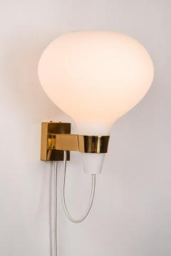 Lisa Johansson Pape Large 1950s Lisa Johansson Pape Bulbo Glass and Brass Wall Lamps for Orno - 1063467