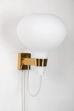 Lisa Johansson Pape Large 1950s Lisa Johansson Pape Bulbo Glass and Brass Wall Lamps for Orno - 1063469