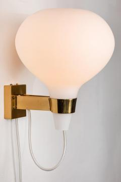 Lisa Johansson Pape Large 1950s Lisa Johansson Pape Bulbo Glass and Brass Wall Lamps for Orno - 1063471