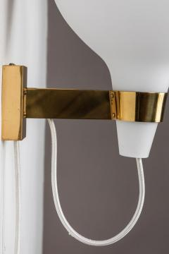 Lisa Johansson Pape Large 1950s Lisa Johansson Pape Bulbo Glass and Brass Wall Lamps for Orno - 1063472