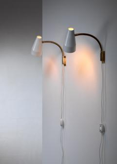 Lisa Johansson Pape Lisa Johansson Pape pair of wall lamps for Orno Finland 1950s - 1143168