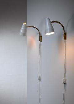 Lisa Johansson Pape Lisa Johansson Pape pair of wall lamps for Orno Finland 1950s - 1143171