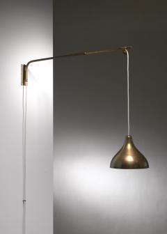 Lisa Johansson Pape Swiveling and extending brass wall lamp - 1490805
