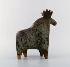 Lisa Larson Large moose in glazed ceramics - 1373195