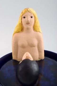 Lisa Larson Lidded jar Suitor stoneware - 1373548
