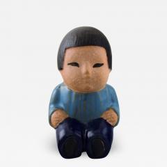 Lisa Larson Stoneware figure from All the worlds children Mei  - 1375401