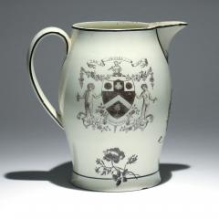 Liverpool Large Creamware Jug with American Ship Inscribed Charles  - 1635689