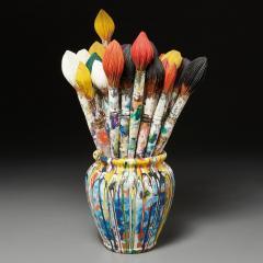 Livio De Marchi Bouquet of Paint Brushes Sculpture by Livio De Marchi - 1991476