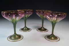 Lobmeyr Champagne Flower Form Enamel Art Glass 1905 - 963247