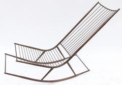Long 1960s Metal Rocking Chair - 481630