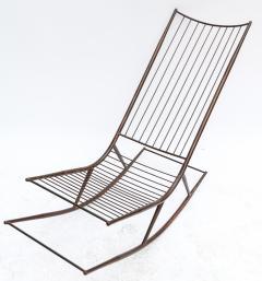 Long 1960s Metal Rocking Chair - 481631