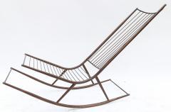 Long 1960s Metal Rocking Chair - 481632