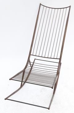 Long 1960s Metal Rocking Chair - 481633