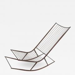 Long 1960s Metal Rocking Chair - 484742
