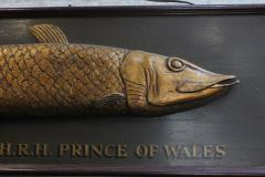 Long Hand Carved Fish Wood Sign - 1362818
