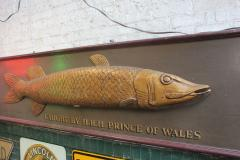 Long Hand Carved Fish Wood Sign - 1362827