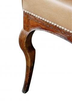 Long Italian Rococo style bench with leather upholstery - 2002851