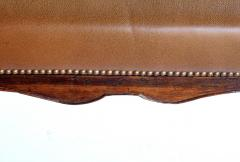 Long Italian Rococo style bench with leather upholstery - 2002853