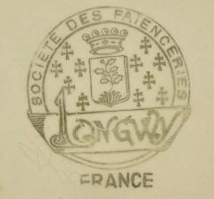 Longwy French Ceramic Cloisonn Art Deco Coffee Tea Suite - 1807124
