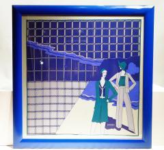 Loredano Rosin Loredano Framed Vintage Silk Scarf circa 1980 - 2003283