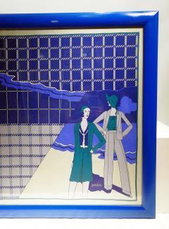Loredano Rosin Loredano Framed Vintage Silk Scarf circa 1980 - 2003285
