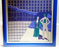 Loredano Rosin Loredano Framed Vintage Silk Scarf circa 1980 - 2003287