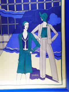 Loredano Rosin Loredano Framed Vintage Silk Scarf circa 1980 - 2003288