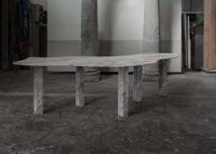 Lorenzo Bini Bicolor Sculptural Marble Coffee Table Signed by Lorenzo Bini - 1758257