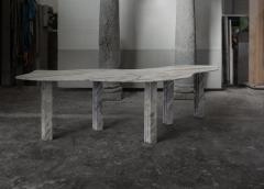 Lorenzo Bini Bicolor Sculptural Marble Table Lorenzo Bini - 1210945