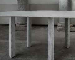 Lorenzo Bini Sculptural White Marble Coffee Table Lorenzo Bini - 1784269