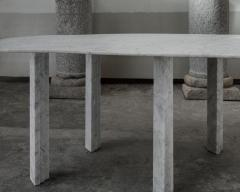 Lorenzo Bini Sculptural White Marble Table Lorenzo Bini - 1210949