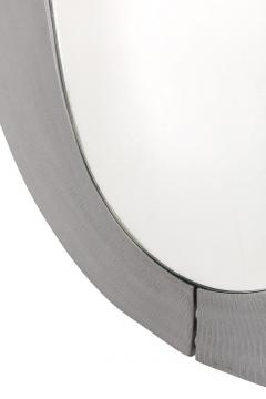 Lorenzo Burchiellaro Sculptural Aluminum Framed Mirror by Artist Lorenzo Burchiellaro - 2141014