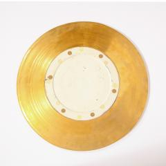 Lorin Marsh Pair of Modernist 24kt Gold Leaf Center Plates Signed Rondier by Lorin Marsh - 2143690