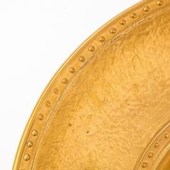 Lorin Marsh Pair of Modernist 24kt Gold Leaf Center Plates Signed Rondier by Lorin Marsh - 2143692