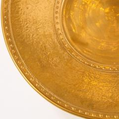Lorin Marsh Pair of Modernist 24kt Gold Leaf Center Plates Signed Rondier by Lorin Marsh - 2143697