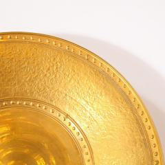 Lorin Marsh Pair of Modernist 24kt Gold Leaf Center Plates Signed Rondier by Lorin Marsh - 2143702