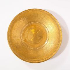Lorin Marsh Pair of Modernist 24kt Gold Leaf Center Plates Signed Rondier by Lorin Marsh - 2143715