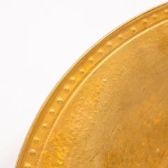 Lorin Marsh Pair of Modernist 24kt Gold Leaf Center Plates Signed Rondier by Lorin Marsh - 2143760