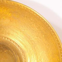 Lorin Marsh Pair of Modernist 24kt Gold Leaf Center Plates Signed Rondier by Lorin Marsh - 2143783