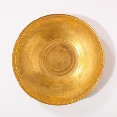 Lorin Marsh Pair of Modernist 24kt Gold Leaf Center Plates Signed Rondier by Lorin Marsh - 2143797