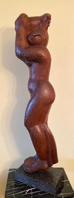 Lorrie H Mrs Lorrie de Creeft Goulet Lorrie Goulet Walnut Cubist Sculpture - 1165311