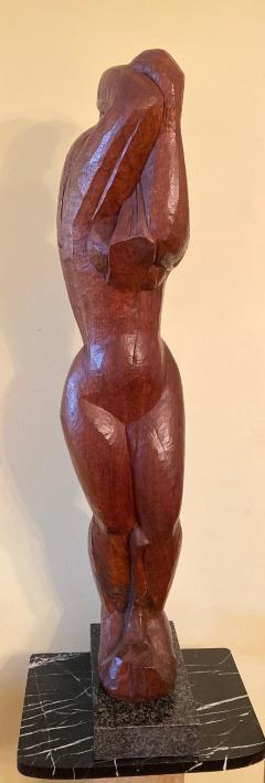 Lorrie H Mrs Lorrie de Creeft Goulet Lorrie Goulet Walnut Cubist Sculpture - 1165313