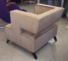 Lost City Arts Custom Cubist Lounge Chair - 563361