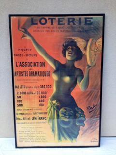 Lotterie French Drama Art Nouveau Pasge Daudin Poster - 91968