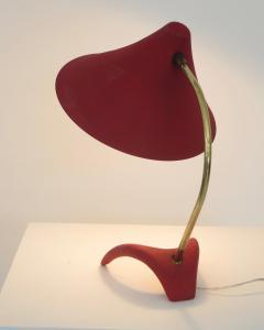 Louis Christiaan Kalff Louis Kalff Diabolo Red Table Lamp For Philips - 1037111
