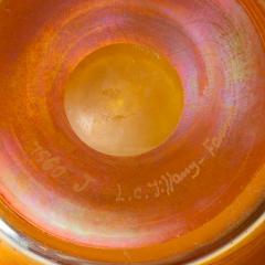 Louis Comfort Tiffany Favrile iridescent art glass bowl - 1730301