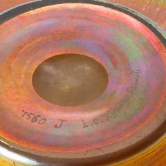 Louis Comfort Tiffany Favrile iridescent art glass bowl - 1730302