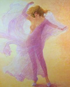 Louis Fabien Hommage a Loie Fuller Tribute to Loie Fuller Large Nude in Pink - 1105844