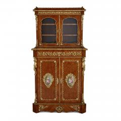 Louis Grade Napoleon III period gilt bronze and porcelain mounted cabinet by Louis Grade - 2003837