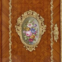 Louis Grade Napoleon III period gilt bronze and porcelain mounted cabinet by Louis Grade - 2003838